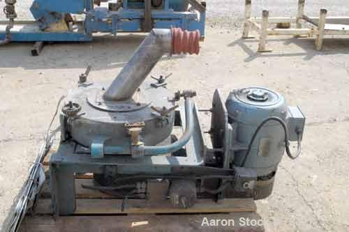 """Used- Pallmann type mill, 304 stainless steel. 20"""" diameter x 5"""" deep chamber, 16"""" diameter screen, approximately 1/4"""" holes..."""