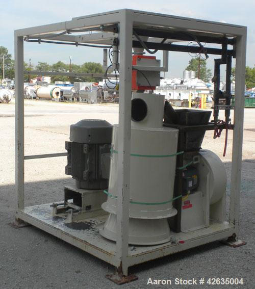 Used- Reduction Engineering Pulverizing System, Carbon Steel, Consisting Of: (1) Model 75 horizontal dual disc pulverizer, d...