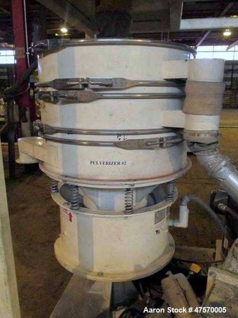 Used- Reduction Engineering Pulverizer Mill, Model 75. Driven by a 30 hp motor. Includes a Whitlock vacuum receiver, 2.5hp v...