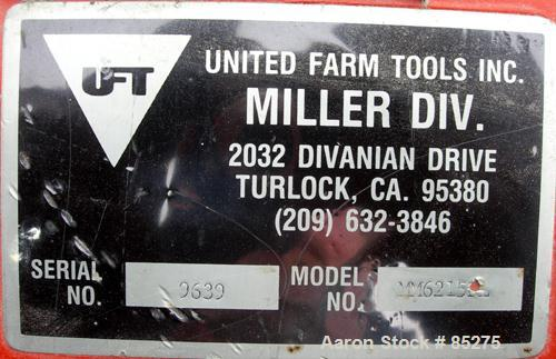 """Used- United Farm Tools Inc Hammermill, Model MM6215PL80, Carbon Steel. Approximate 40"""" diameter disc rotor with bolt-on bla..."""