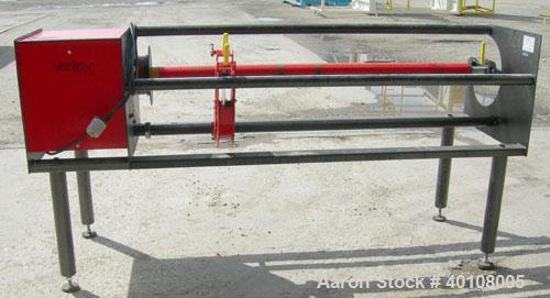 "Used: Smartslitter single blade roll slitter, model Genesis G1162. Floor standing unit. Capacity 62"" roll width, max O.D. ro..."