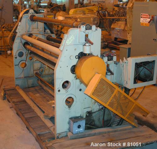 "USED: Cameron slitter, model T554-8. 63"" wide rolls. 5 hp motor."