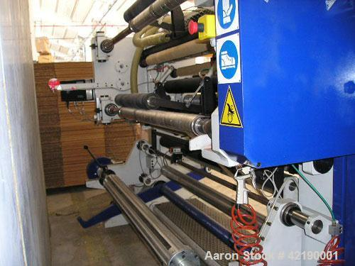"Used-Gianni B400 Slitter Rewinder. Max mother roll diameter 31.5"" (800 mm), max finished roll diameter 17.7"" (450 mm), max w..."