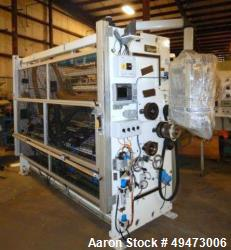 Used-MACRO approximately 92'' wide Shear Cut Sliiting/ Pull Roll Assembly. No Unwind or Rewind Included. New in 2012. Previo...