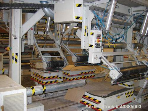 "Used-Prodima Slitter Rewinder Station 91.7"" (2350 mm) wide consisting of: (1) 4 station unwinder, type 2350, working width 9..."