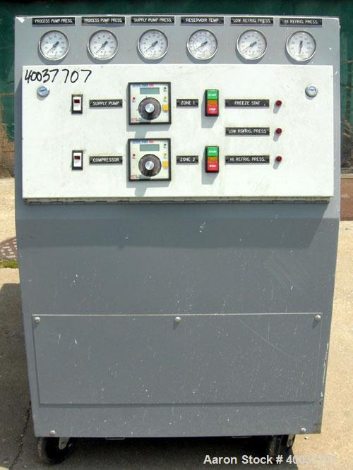 Used- Mokon Temperature Controller/Chiller, model 311-053. Two zone heating/chilling system with (2) KV7F04KU.  Heating unit...