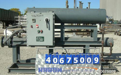 Used- Accutherm Hot Oil Heater, 30 kW capacity, model 45-305-N-188. Includes a pump, driven by a 1 hp, 3/60/208-230/460 volt...