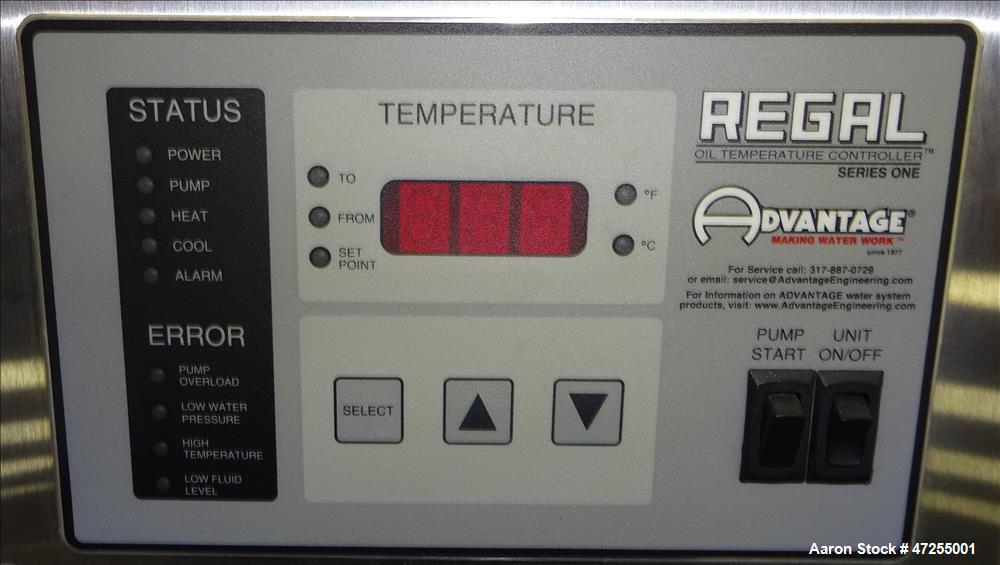 Used- Advantage Engineering Regal Series Hot Oil Temperature Controller, Model R