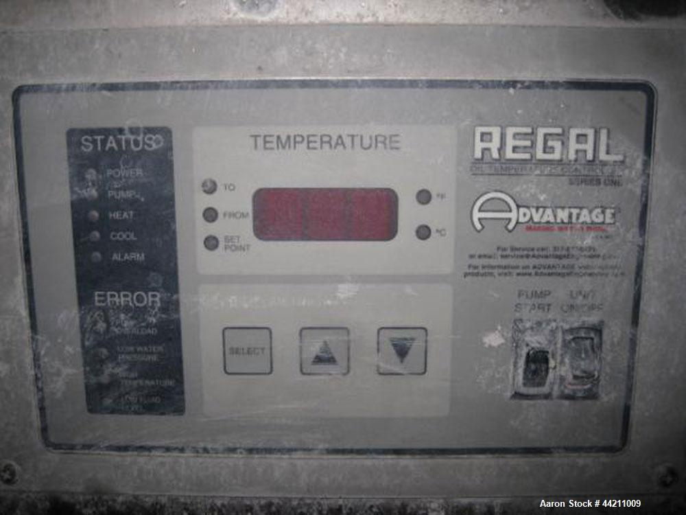 Used- Advantage Regal Oil Heater Model RK-1230HC, 12KW total heat.  1 Hp circulation pump rated 30 gpm at 24psi max, 3.7 squ...