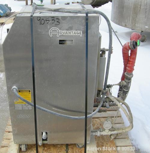 Used: Advantage hot oil temperature controller, model RK4-2460HC-41D3. Maximum temperature 400 deg.f.. 3/60/460 volt,approx ...