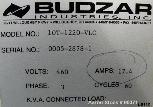 USED: Budzar Industries thermal fluid hot oil temperature controller, model 10T-1220-VLC. 3/60/460 volt, 17.4 amp. 12 kW hea...