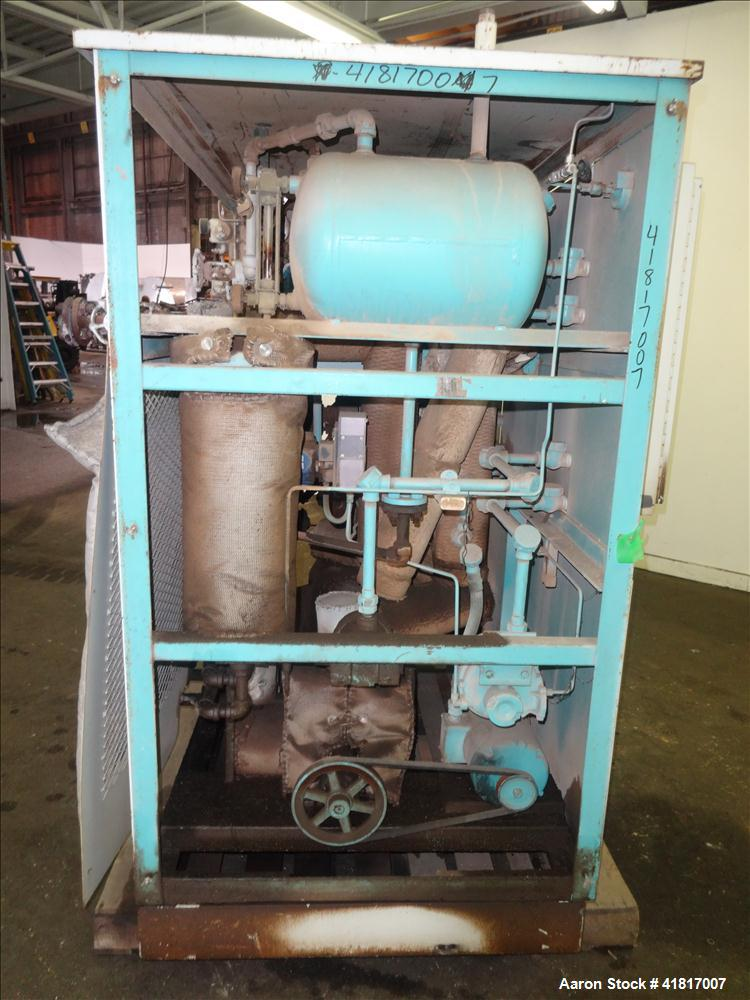"Used- Budzar Dual Hot Oil Unit. Each unit has an air tank and an approximate 5 hp motor. 1"" returns and discharge outlets."
