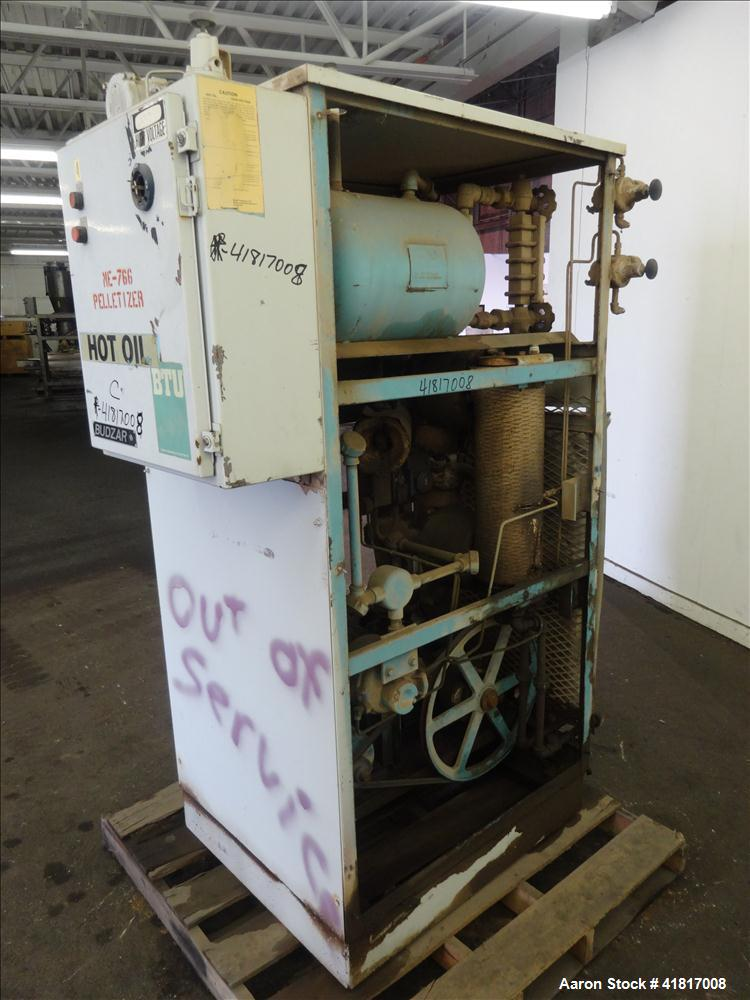 Used- Budzar Hot Oil Unit. Includes air tank, approximate 5hp motor and an attached control panel. 1160 #.