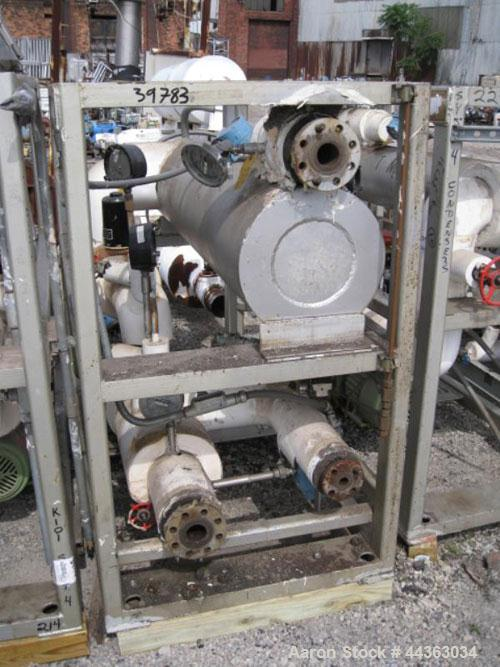 Used- Chromalox Electric Oil Heater, 60 kw capacity, electrically heated bayonet heater, 480 volt, 3 phase, skid mounted wit...