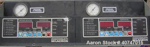 Used-Cincinnati Milacron Hot Oil Temperature Control Unit,model CD0TC-100, 12 kw, 2 zones. Temperature range 100-500 deg F. ...