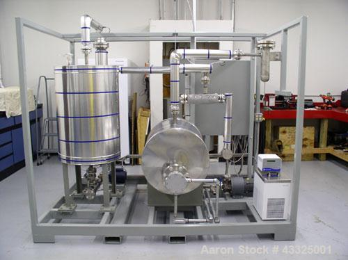 Used-Membrane Pervaporation Pilot Plant with auxiliary decanter vessel, skid mounted, 50 gallon stainless feed tank.  Ventur...