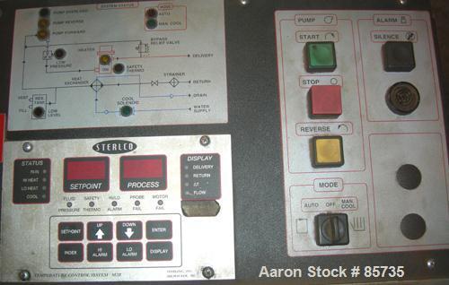 Used- Sterlco Hot Oil Temperature Control Unit, Model M2B9026-J1. Single zone oil heater, 18 total kW. Temperature range to ...