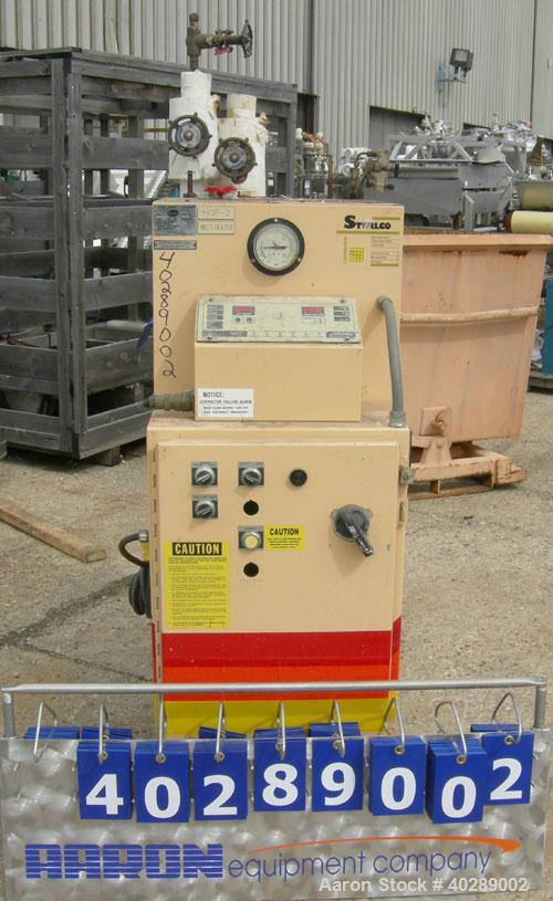 Used- Sterlco Hot Oil Temerature Controller, Model M6016-DX. 12 kW, 3/60/460 volt, 16 amp. Mounted on casters.