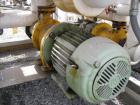 Used- Chromalox Electric Oil Heater, 80 kw capacity, electrically heated bayonet heater, 480 volt, 3 phase, skid mounted wit...