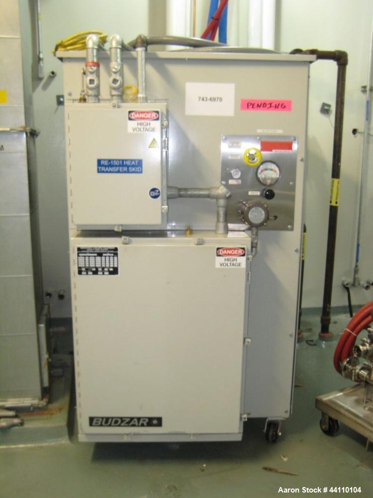 Used- Heat Transfer Skid (Mfg by Budzar Industries, Model LTW-12-5C, S# 200602-10679-1, 3/60/460V, 10hp compressor, 3 hp chi...