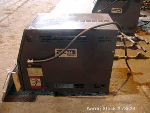 "USED: AEC water temp unit, model TDW-1NX-Q, Heater 9 KW, 3/4 HP, 1"" inlet and outlet,max temp 250 deg F, 3/60/230. Mounted o..."