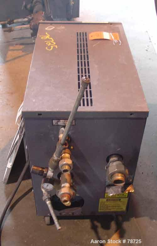 """USED: AEC water temp unit, model TDW-1NX-Q. 1"""" inlet and outlet, max temp 250 deg F, 3/60/230. Mounted on casters."""
