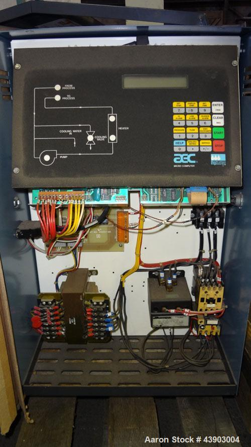 Used- AEC Water Temperature Control Unit, Model TDW-1XT.  9 kW Heater, maximum temperature rating 230 degrees F. Includes an...