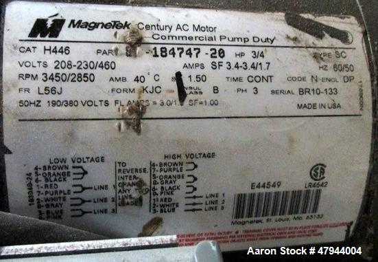 Used- AEC TrueTemp Series Water Temperature Control Unit, Model TDWF7M09S4. 9KW, 3/60/460 volt. Serial# 98E5377.