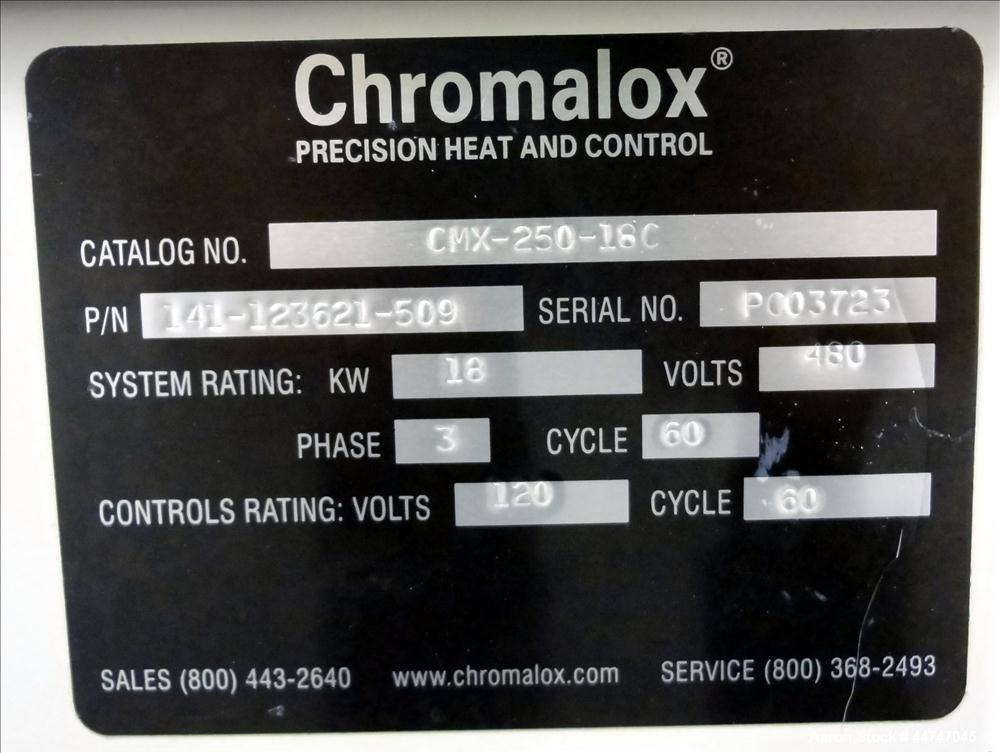 Used- Chromalox Precision Heat And Control Micro Therm CMX Series Circulating Water Temperature Controller, 18 KW, Model CMX-250-18C