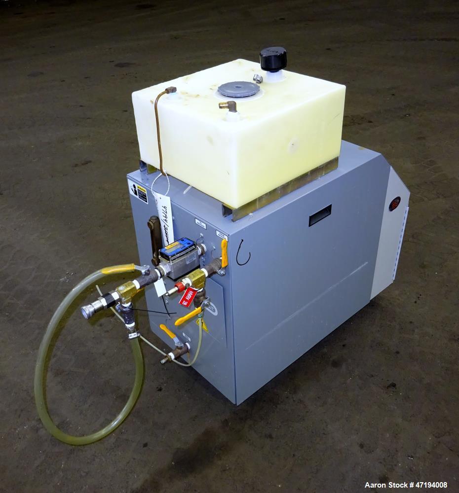Used- Mokon Minitherm Circulating Water Temperature Control System, Model MT430234. 2KW, 3/60/460 volts. Maximum temperature...
