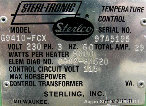 Used- Sterlco Sterl-Tronic Heating and Temperature Control Unit, model G9410-FCX. 3/60/230 volt, 29 amps. 9000 watts per hea...