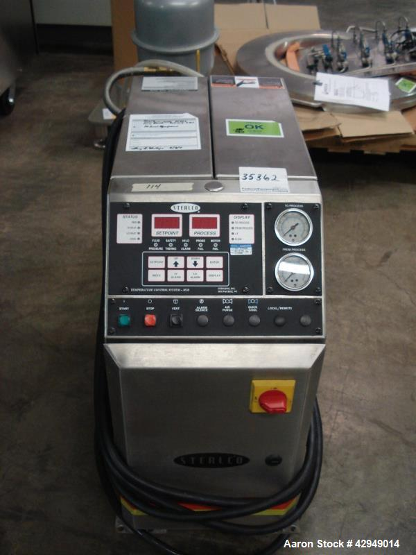Used-Sterlco water heater, model M2B2010-CX, 12 kw, single zone, 460 volt with pump, serial# 31F9460. NOTE PRICE INCLUDES A ...