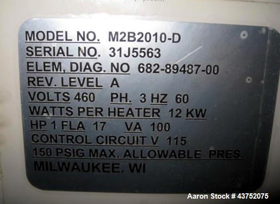 Used- Sterlco Temperature Control Unit, Model M2B2010-D. 12KW, 1hp, 460/3/60, volt, serial# 31J5563.
