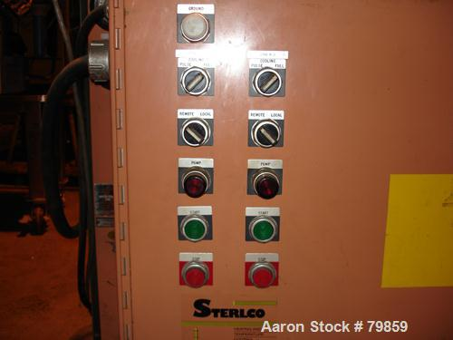USED: Sterlco 2 zone water temperature control unit, model M8425.9 kW, each zone driven by 3 hp, 3/60/480 volt, 3495 rpm mot...
