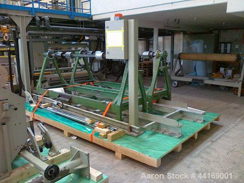 "Used-Berstorff Winder/Unwinder for Polyester Fabrics.  Maximum capacity 98 feet/hour (30 m), material thickness 0.008"" - 0.0..."