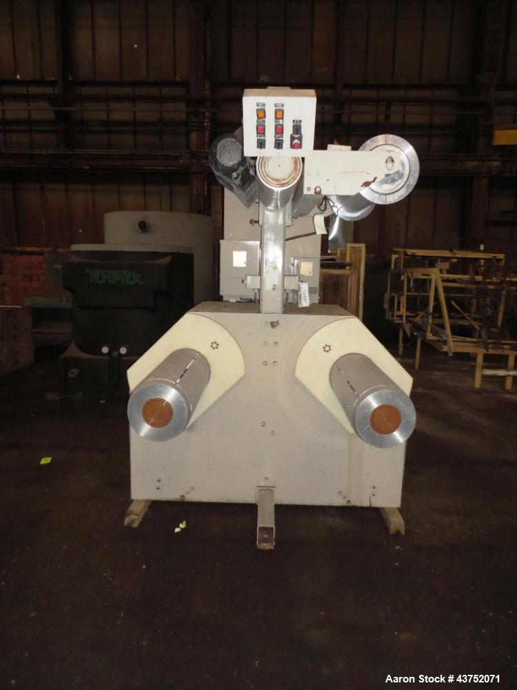 "Used- Cincinnati Milacron 30"" Wide Unwind Stand. (2) Shaft with cantilever design. Able to handle up to 60"" diameter rolls, ..."