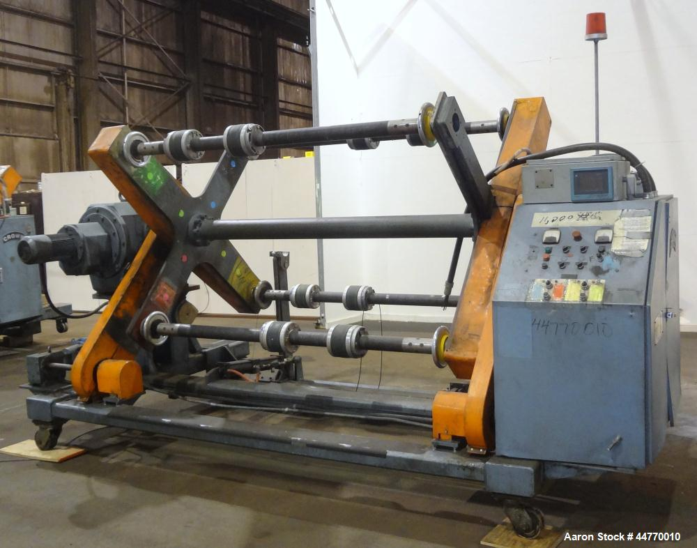 """Used- Crown Dual Turret Winder, approximately 84"""" wide."""