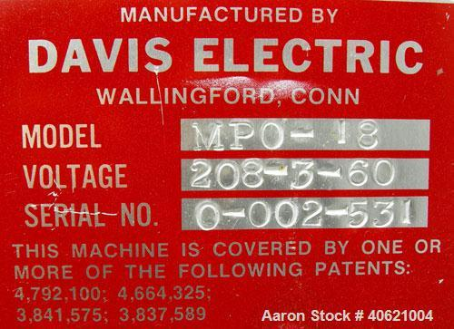 """Used- Davis Electric 18""""Payoff, model MPO-18. Includes dancer and foot pedal jog. 17"""" shaft length. Driven by an approximat..."""