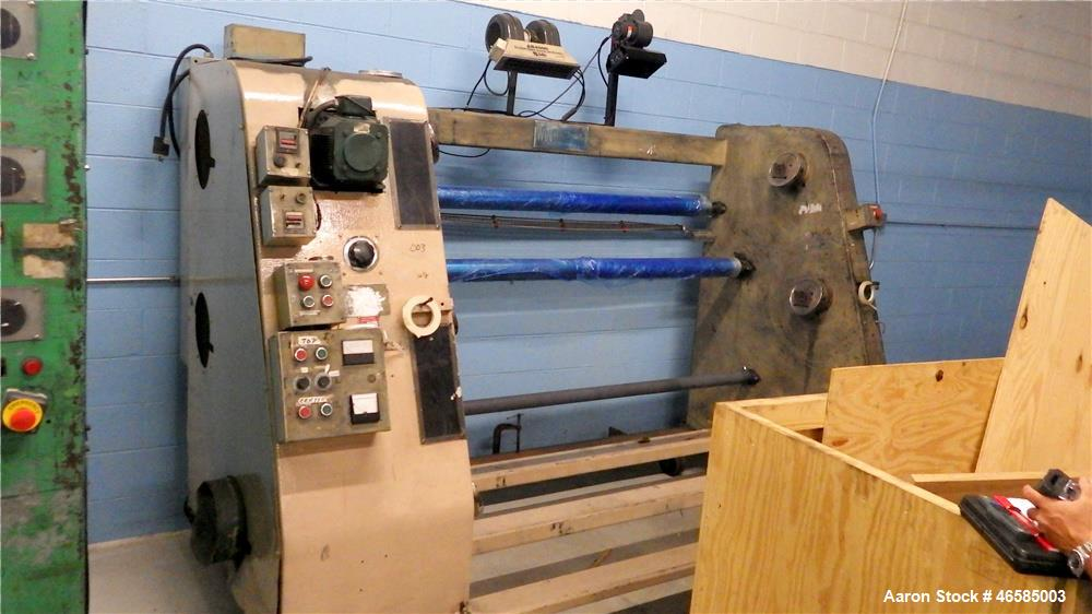 "Used-Davis Standard Winder, Model 207146-1 Capacity 12"" Rolls, 72"" Wide, Three Station.  Serial # G-4802"