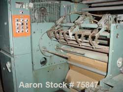 """USED: Gloucester winder, model 163A.  Approximate 22"""" wide capacity, (3) 10"""" diameter rolls."""