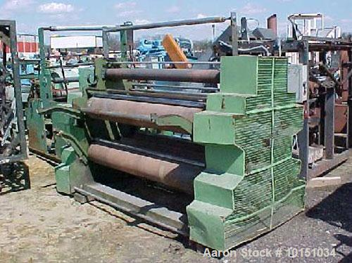 """Used-Surface Winder for Blown Film Sheeting. Consists of 4 winding positions 66"""" wide for up to 24"""" diameter rolls. Has infe..."""