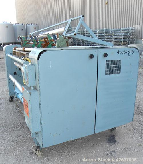 Used- Gloucester Engineering Company Winder, Model #12, Carbon Steel. Single turret, approximately 72'' wide capacity. Shaft...