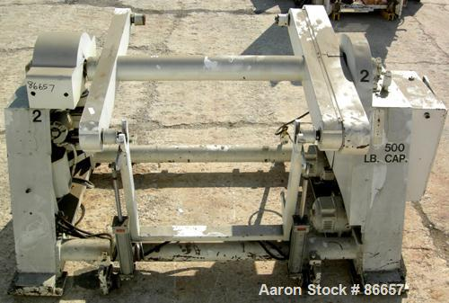 """USED: Hobbs 41"""" wide single station dual turret winder, 500 lb capacity. Approximate 48"""" diameter roll size. Driven by dual ..."""