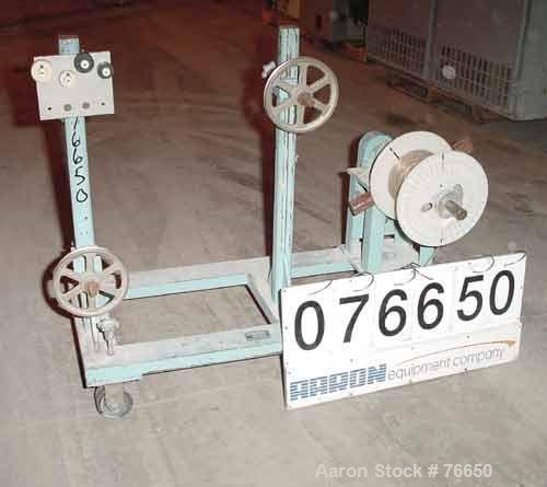 """Used- Killian Single Turret Winder. Approximate capacity 8"""" wide x 12"""" diameter roll. Unit mounted on casters."""