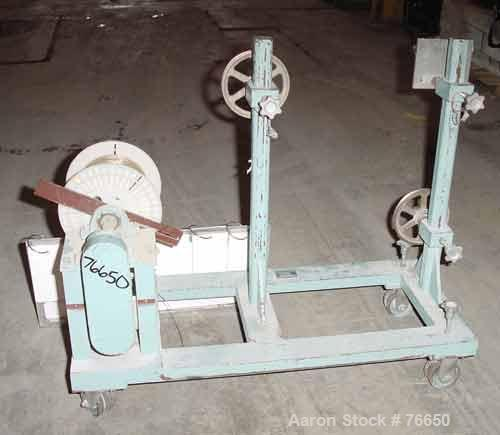 "Used- Killian Single Turret Winder. Approximate capacity 8"" wide x 12"" diameter roll. Unit mounted on casters."
