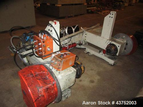 """Used- 48"""" Unwind Stand. Shaftless design, rated at 60"""" OD. With dual Montalvo brakes and a 2 hp hydraulic package for latera..."""