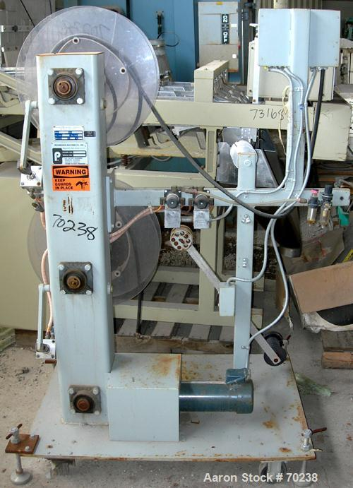 "USED:Progressive Machine Co winder, model 601-LH. (2) 20"" wide x4-1/2"" wide max adjustable rolls. Driven by a 3/4 hp, 180 vo..."