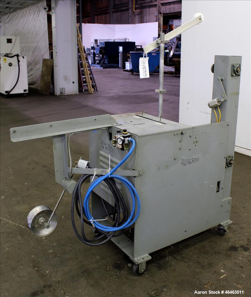 Used- Progressive Machine Dual-Spindle Spooler, Model S160CA-RH. Machine is capable of speeds up to 600 feet per minute. Dri...