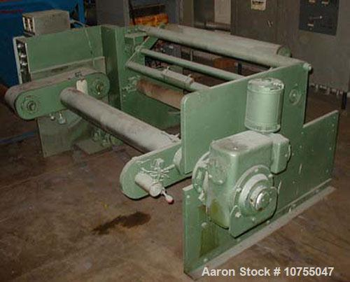 "Used-Sterling winder 42"" wide, single turret. 14"" diameter roll capacity having Uni-Systems controls."