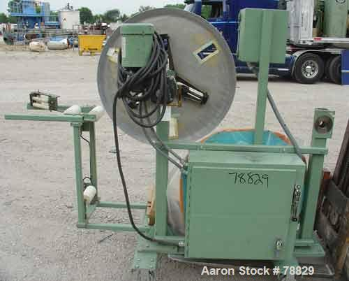 "Used- Tetra Profile Winder. Can handle approximate 6"" wide x 32"" diameter material, has edge guides, driven by a 1/3 HP, 3/6..."